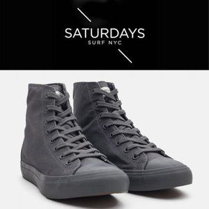 Saturdays NYC Mike Canvas High-Tops - Size 12